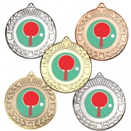 Table Tennis Wreath Medals