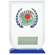 Multisport Glass Award with Table Tennis Insert