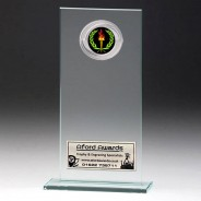 Jade Glass Gladiator Plaque with Victory Insert