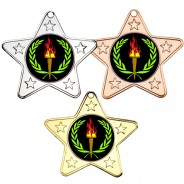 Victory Star Shaped Medals