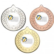 Volleyball Stars and Wreath Medals