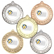 Volleyball Wreath Medals