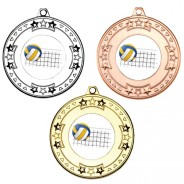 Volleyball Tri Star Medals