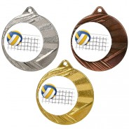 """Volleyball 50mm Medal with 1"""" Centre"""