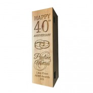 Anniversary Laser Engraved Wooden Wine Box with Tools