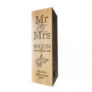 Wedding Laser Engraved Wooden Wine Box with Tools
