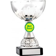 Silver Cup Trophy with Well Done Insert
