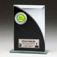 Black & Silver Glass Award with Well Done Insert