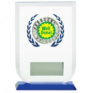 Multisport Glass Award with Well Done Insert