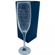 Mother's Day Engraved Champagne Flute