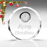 Christmas Glass Clock