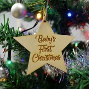 Christmas Star Wooden Decoration
