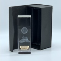 Football Crystal Block Trophy