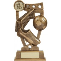 Bronze Three Star Football Trophy