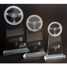 Crystal Steering Wheel Trophy