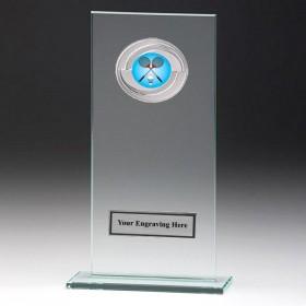 Jade Glass Gladiator Plaque with Badminton Insert
