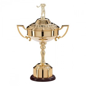 Sterling Gold Plated Golf Cup