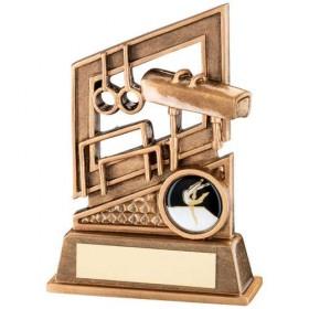 Bronze/Gold Gymnastics Diamond Series Trophy