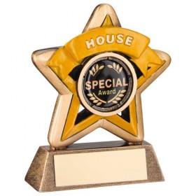 Mini Star 'House' Trophy - Bronze/Gold/Yellow