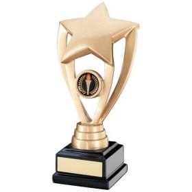 Gold Shooting Star Holder on Black Base Trophy