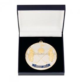 Prestige Longest Drive Golf Medal & Box