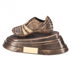 Agility Boot Football Award Antique Bronze & Gold