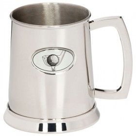 The Mulligan Golf Polished Steel Tankard