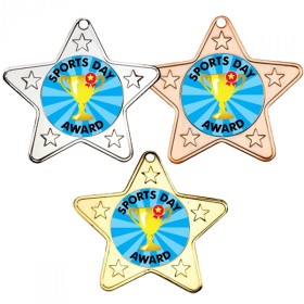 Sports Day Star Shaped Medals